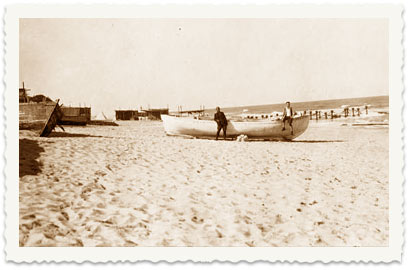 La plage de Gaza en 1928